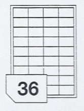 Clear A4 Sheet Labels 36 Labels Per Sheet